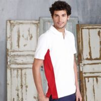 Flags short sleeve bi-colour polo shirt Thumbnail