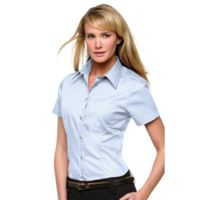Women's corporate pocket Oxford blouse short sleeved Thumbnail