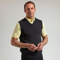 g.Thornton cotton v-neck slipover (MKC7079SO-THO) Thumbnail
