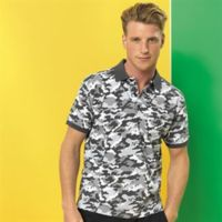 Men's camo piqué polo Thumbnail